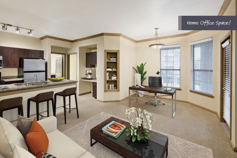 Home Office Space at Camden Stoneleigh Apartments in Austin, TX