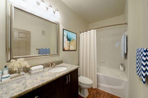 Bathroom at Camden Stoneleigh Apartments in Austin, TX