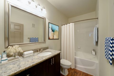 Bathroom at Camden Stoneleigh Apartments in Austin, TX