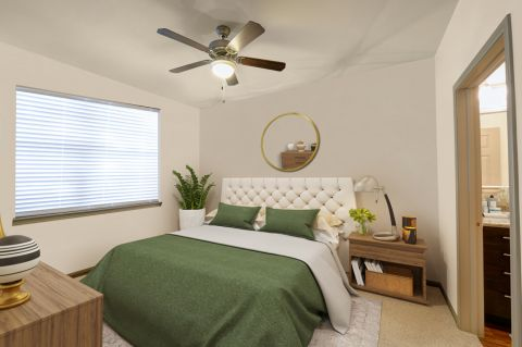 Bedroom at Camden Stoneleigh Apartments in Austin, TX