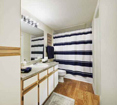 Bathroom at Camden Sugar Grove Apartments in Stafford, TX