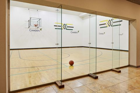 Indoor Basketball Court at Camden Sugar Grove Apartments in Stafford, TX