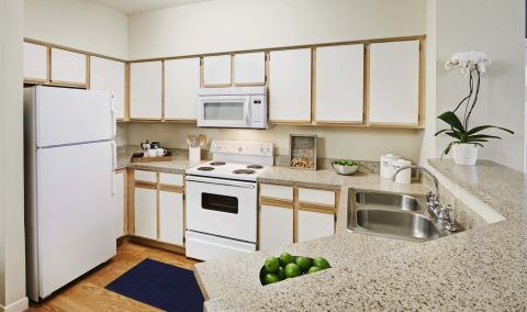 Kitchen at Camden Sugar Grove Apartments in Stafford, TX