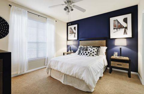 Bedroom at Camden Sugar Grove Apartments in Stafford, TX