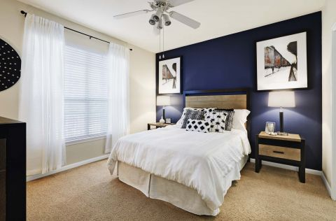 Bedroom at Camden Sugar Grove Apartments in Stafford, TX