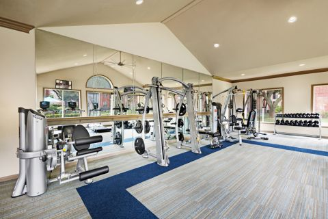 Fitness Center at Camden Sugar Grove Apartments in Stafford, TX