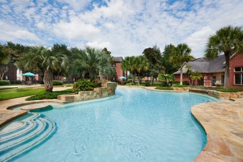 Resort-Style Swimming Pool at Camden Sugar Grove Apartments in Stafford, TX