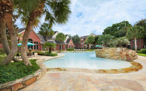 Pool at Camden Sugar Grove Apartments in Stafford, TX