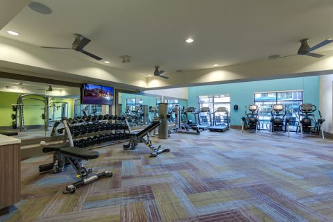 Fitness center at Camden Tempe Apartments in Tempe, AZ