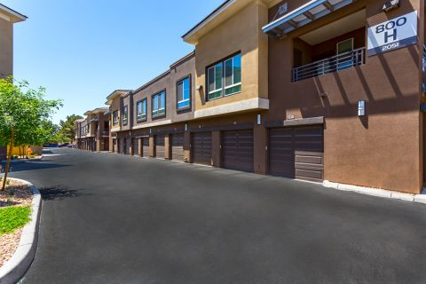 Direct access garages at Camden Tempe Apartments in Tempe, AZ