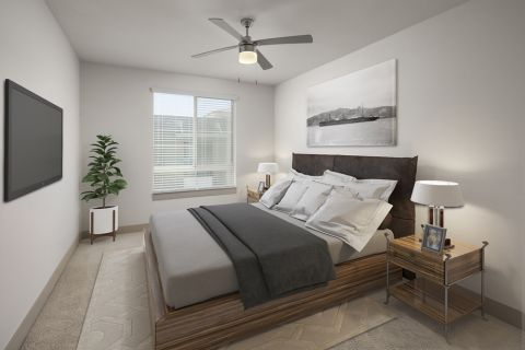 Bedroom in B4 floor plan at Camden Tempe Apartments in Tempe, AZ