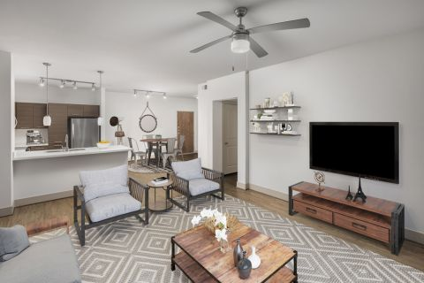 Open floor plan at Camden Tempe Apartments in Tempe, AZ