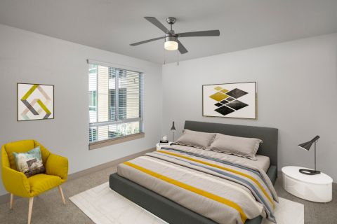 Bedroom in B5 floor plan at Camden Tempe Apartments in Tempe, AZ
