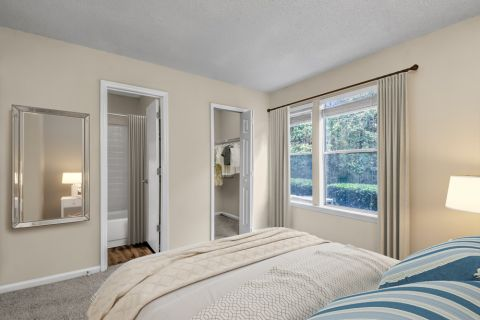 Bedroom at Camden Touchstone Apartments in Charlotte, NC