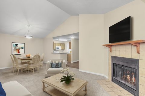 Living Room at Camden Touchstone Apartments in Charlotte, NC