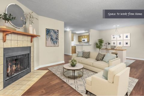 Space to Work from Home at Camden Touchstone Apartments in Charlotte, NC