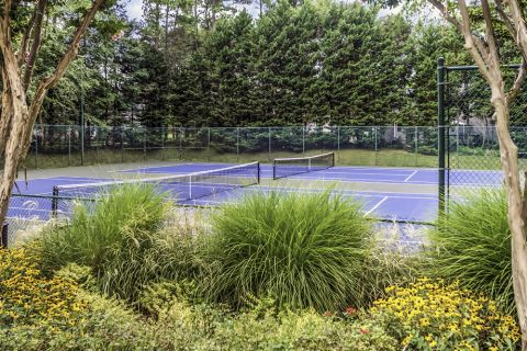 Newly resurfaced tennis courts at Camden Touchstone Apartments in Charlotte, NC