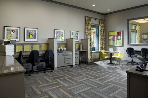 Community Workspace at Camden Town Square Apartments in Kissimmee, FL