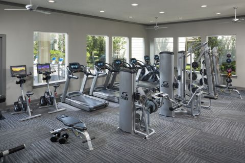 Fitness Center at Camden Town Square Apartments in Kissimmee, FL