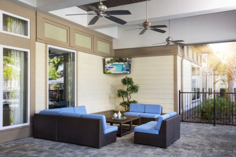 Lanai at Camden Town Square Apartments in Kissimmee, FL