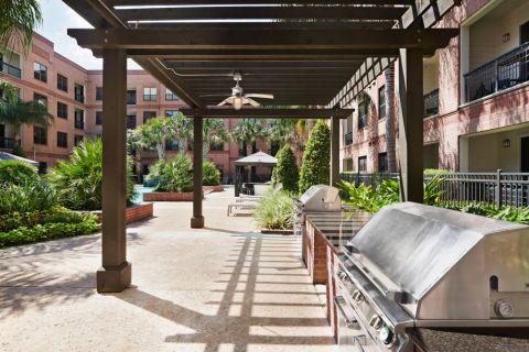 Outdoor Grills at Camden Travis Street Apartments in Houston, TX