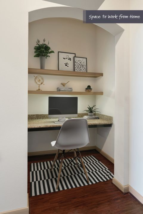Built-In Desks for Home Office Space at Camden Travis Street Apartments in Houston, TX