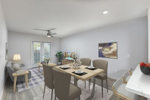 Dining Area at Camden Tuscany Apartments in San Diego, CA