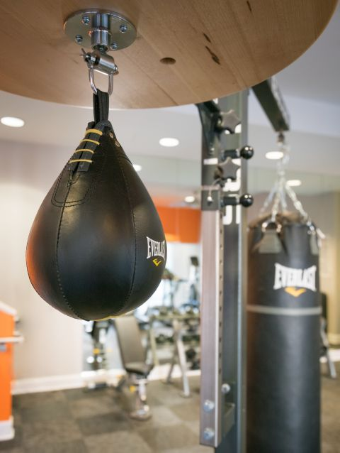 Boxing Equipment with Punching Bag in Brand New Fitness Center at Camden Tuscany Apartments in San Diego, CA
