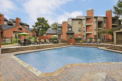 Pool with Sundeck at Camden Valley Park Apartments in Irving, TX