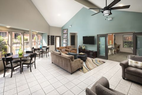 Clubhouse at Camden Valley Park Apartments in Irving, TX