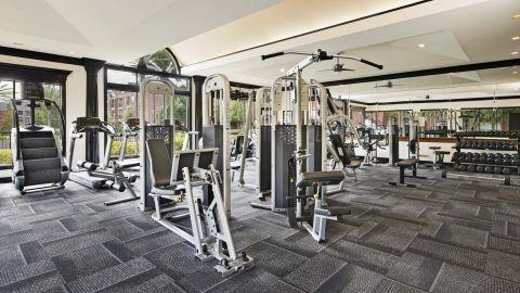 Fitness Center at Camden Vanderbilt Apartments in Houston, Texas