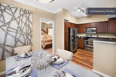 Dining Area and Kitchen at Camden Vanderbilt Apartments in Houston, TX