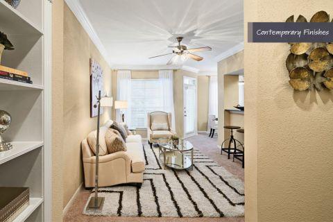 Entrance to Open Concept Floor Plan at Camden Vanderbilt Apartments in Houston, TX