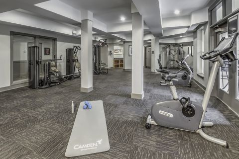Fitness Center with cardio machines at Camden Vantage Apartments in Atlanta, GA