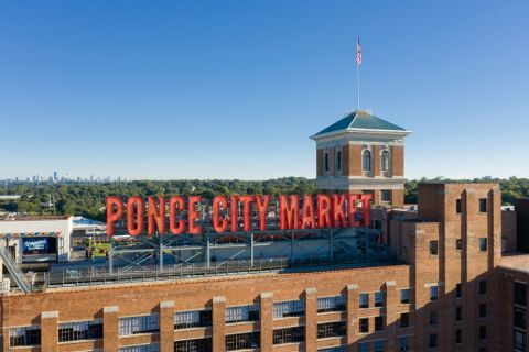 Ponce City Market near Camden Vantage Apartments in Atlanta, GA
