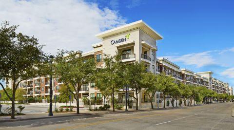 Exterior of Building at Camden Victory Park Apartments in Dallas, TX