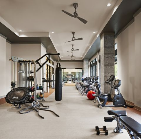 Fitness Center at Camden Victory Park Apartments in Dallas, TX