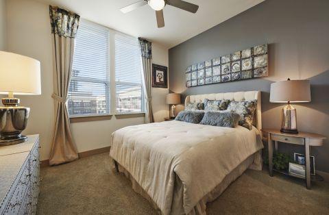 Bedroom at Camden Victory Park Apartments in Dallas, TX