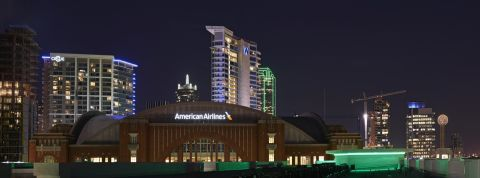 View of American Airlines Center at Camden Victory Park Apartments in Dallas, TX
