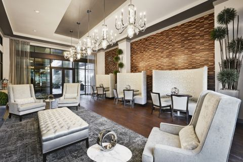 Social Lounge at Camden Victory Park Apartments in Dallas, TX