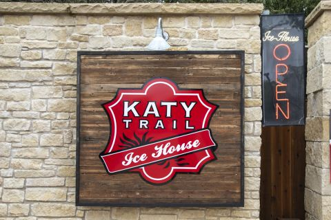 Katy Trail Ice House walking distance from Camden Victory Park Apartments in Dallas, TX