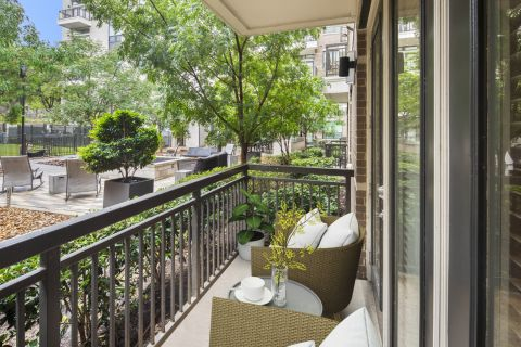 Outdoor Living Space at Camden Victory Park Apartments in Dallas, TX