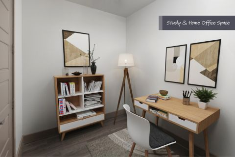 Home Office Space at Camden Victory Park Apartments in Dallas, TX