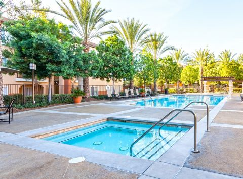Pool and Spa at Camden Vineyards Apartments in Murrieta, CA