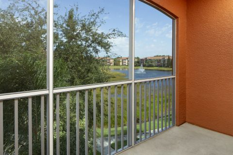 Balcony at Camden Visconti Apartments in Brandon, FL