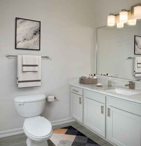 Bathroom at Camden Visconti Apartments in Brandon, FL