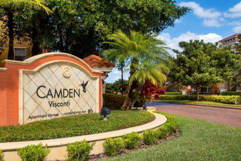 Entrance at Camden Visconti Apartments in Brandon, FL