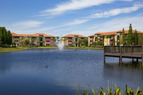 Pond at Camden Visconti Apartments in Brandon, FL