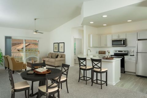Renovated Kitchen at Camden Visconti Apartments in Brandon, FL