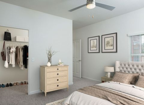Walk In Closet at Camden Visconti Apartments in Brandon, FL